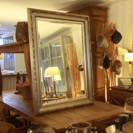 Verfügbar Wandspiegel Ina Silber-80-112