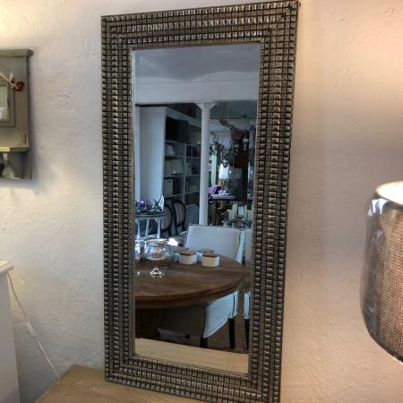 Verfügbar Wandspiegel Gina Silber-80-140