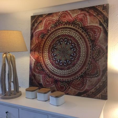 Verfügbar Dekoration Wandbild Orna Rot
