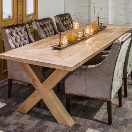Holz Eichenbein X für Tischplatten