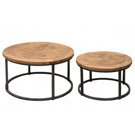 landhausmoebel victors home industriedesign couchtisch teaktisch round. Black Bedroom Furniture Sets. Home Design Ideas