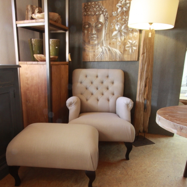 Good Upholstered Armchair Vnc With Landhaus Sessel